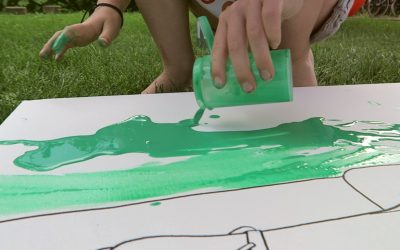 Making art with our kids!